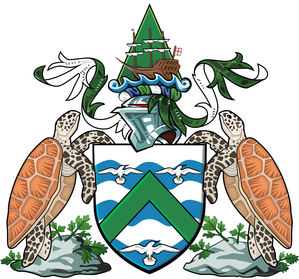 Ascension Island Coat of Arms of Ascension Island ZD8W