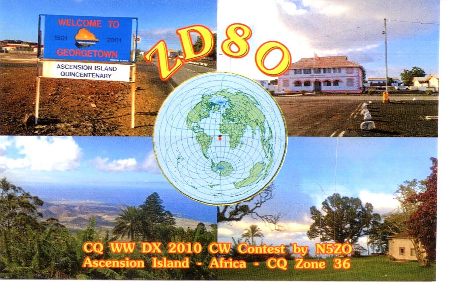 Ascension Island ZD8O QSL