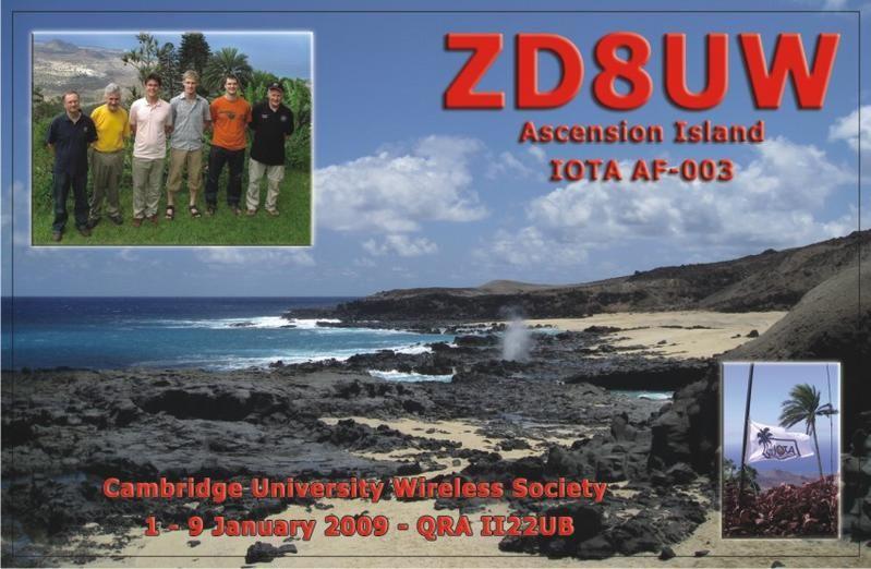 Остров Вознесения ZD8UW