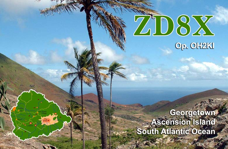 Ascension Island ZD8X QSL