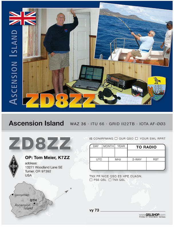 Ascension Island ZD8ZZ QSL 2011