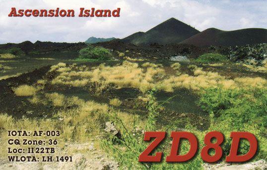 Ascension Island ZD8D QSL