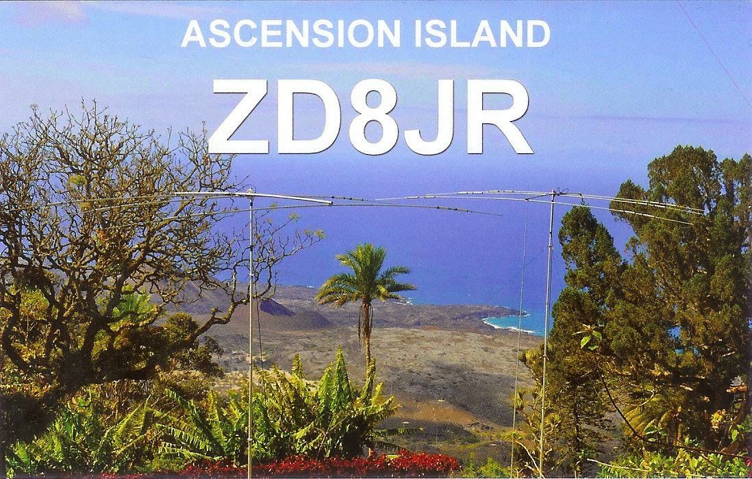 Ascension Island ZD8JR QSL