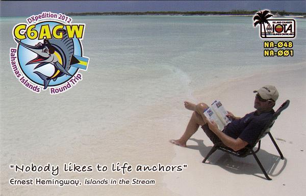 Bahama Islands C6AGW QSL