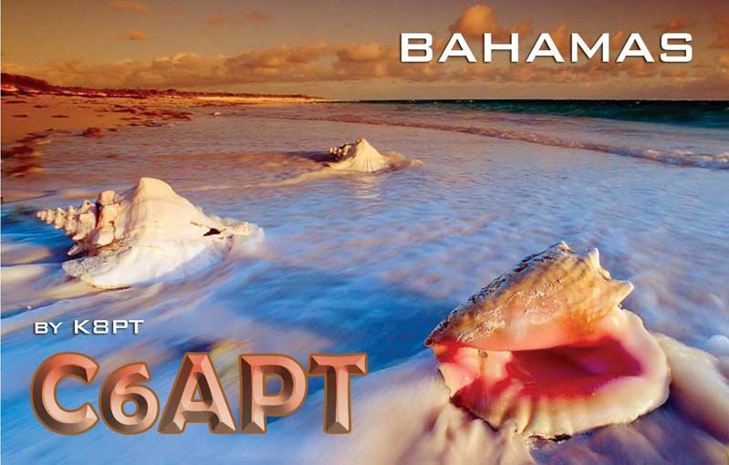 Bahama Islands C6APT QSL