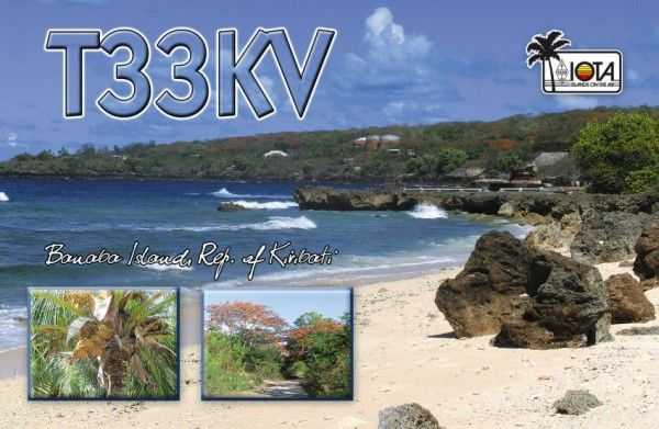 Banaba Island T33KV QSL