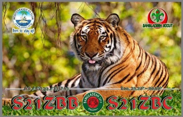 Bangladesh S21ZBB S21ZBC QSL