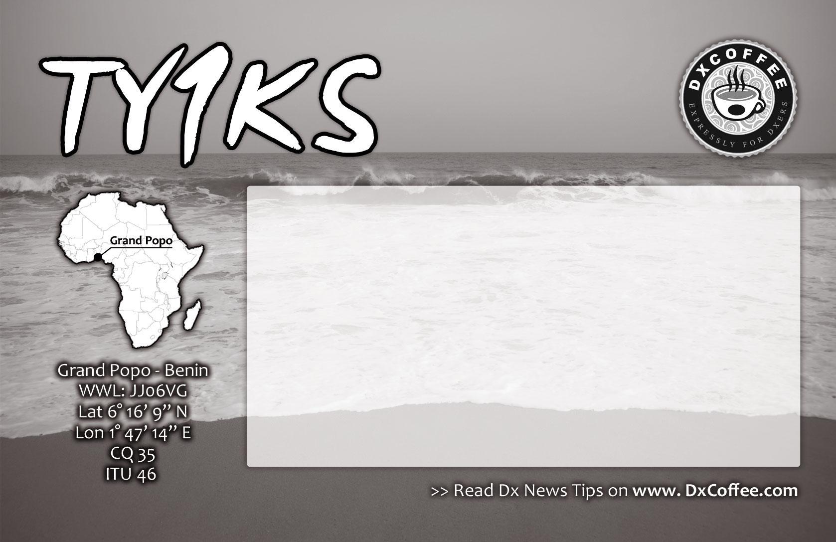 Бенин TY1KS QSL 3