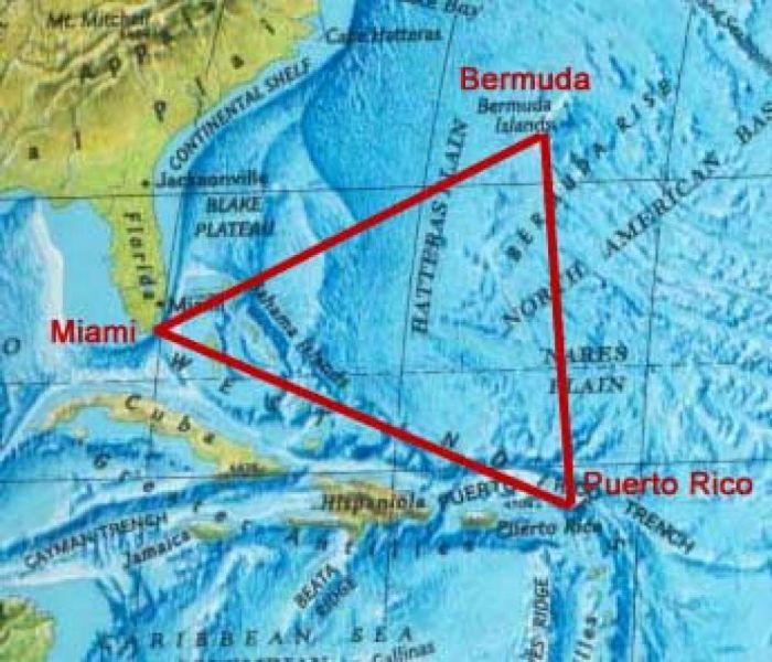 Бермудские острова Бермудские треугольник карта UU5WW/VP9