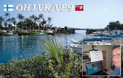 Bermuda OH1VR/VP9 QSL