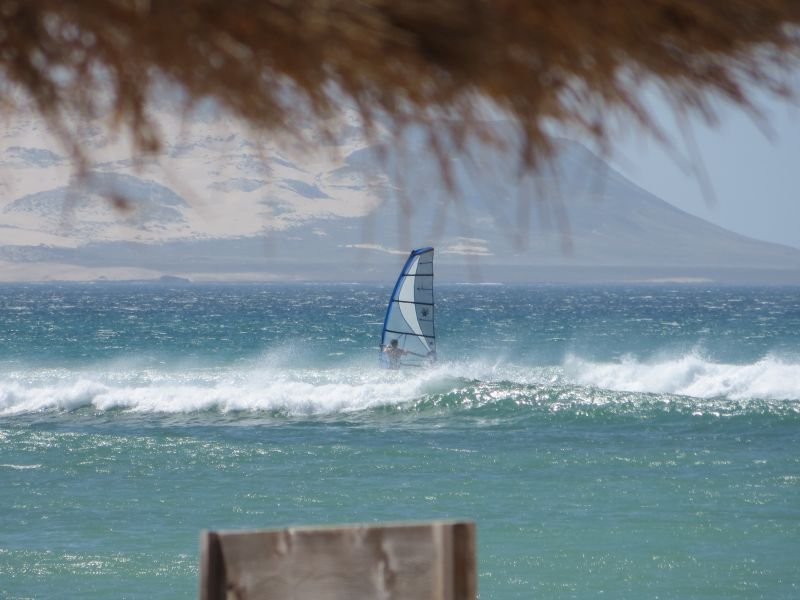 Остров Боа Вишта Кабо Верде Острова Зеленого Мыса D44TWQ Океан виндсерфинг