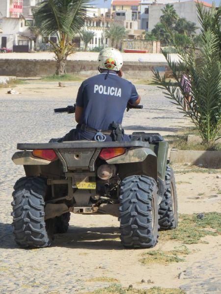 Остров Боавишта Кабо Верде Острова Зеленого Мыса D44TWQ полиция