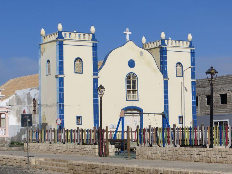Остров Боа Вишта Кабо Верде Острова Зеленого Мыса D44TWQ Сал Рей Церковь
