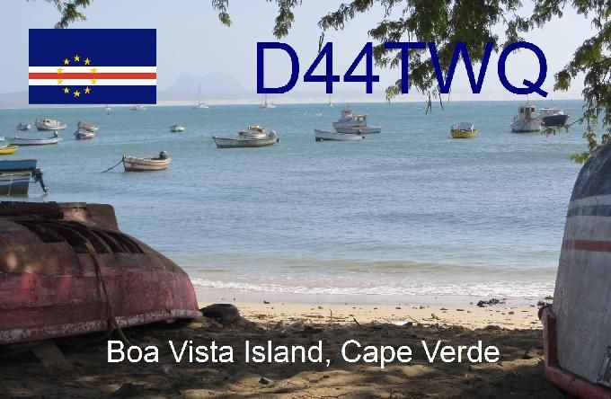 Остров Боа Вишта Кабо Верде Острова Зеленого Мыса D44TWQ QSL