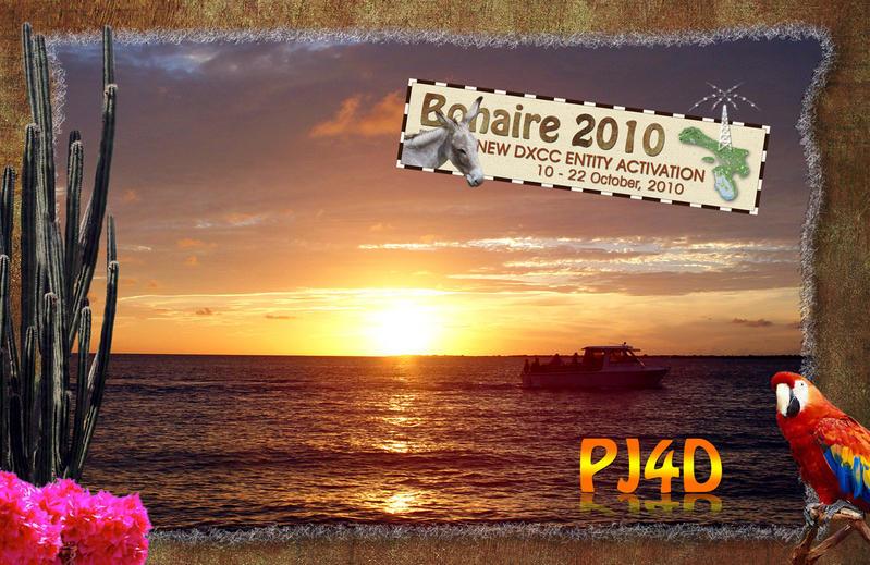Остров Бонайре PJ4D QSL