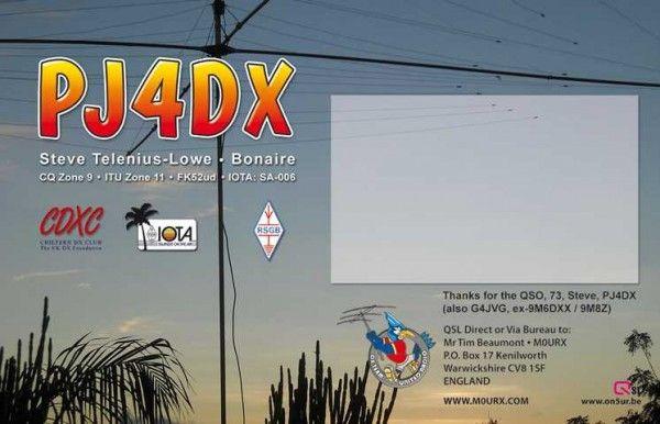 Bonaire Island PJ4DX DX News