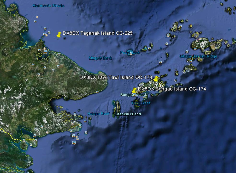 Bongao Island Tawi Tawi Island Turtle Island Taganak Island DX8DX