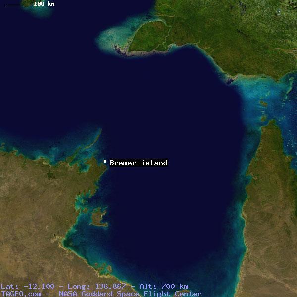 Остров Бремер VK8BI Карта
