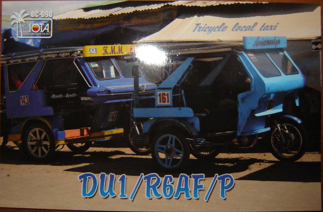 Busuanga Island DU1/R6AF/P QSL