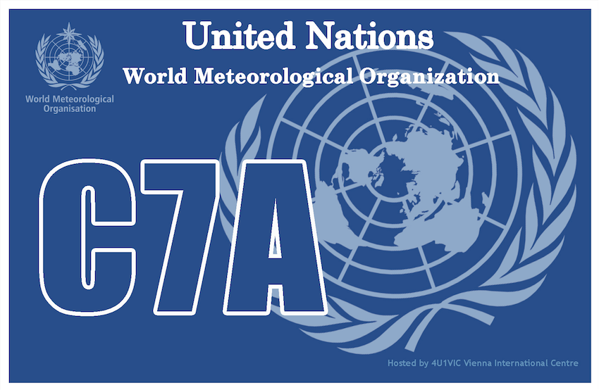 C7A World Meteorological Organization QSL