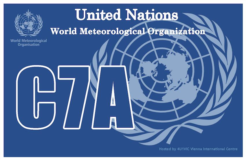 C7A World Meteorological Organization QSL