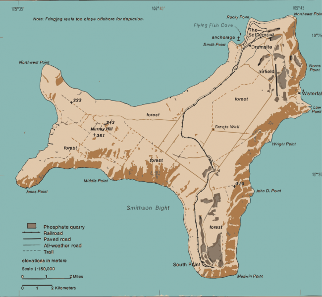 Christmas Island Map of Christmas Island VK9EX