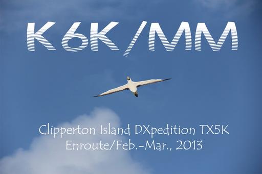 Clipperton Island TX5K K6K QSL