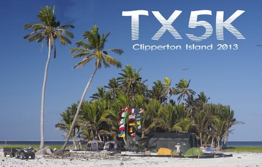 Clipperton Island TX5K QSL