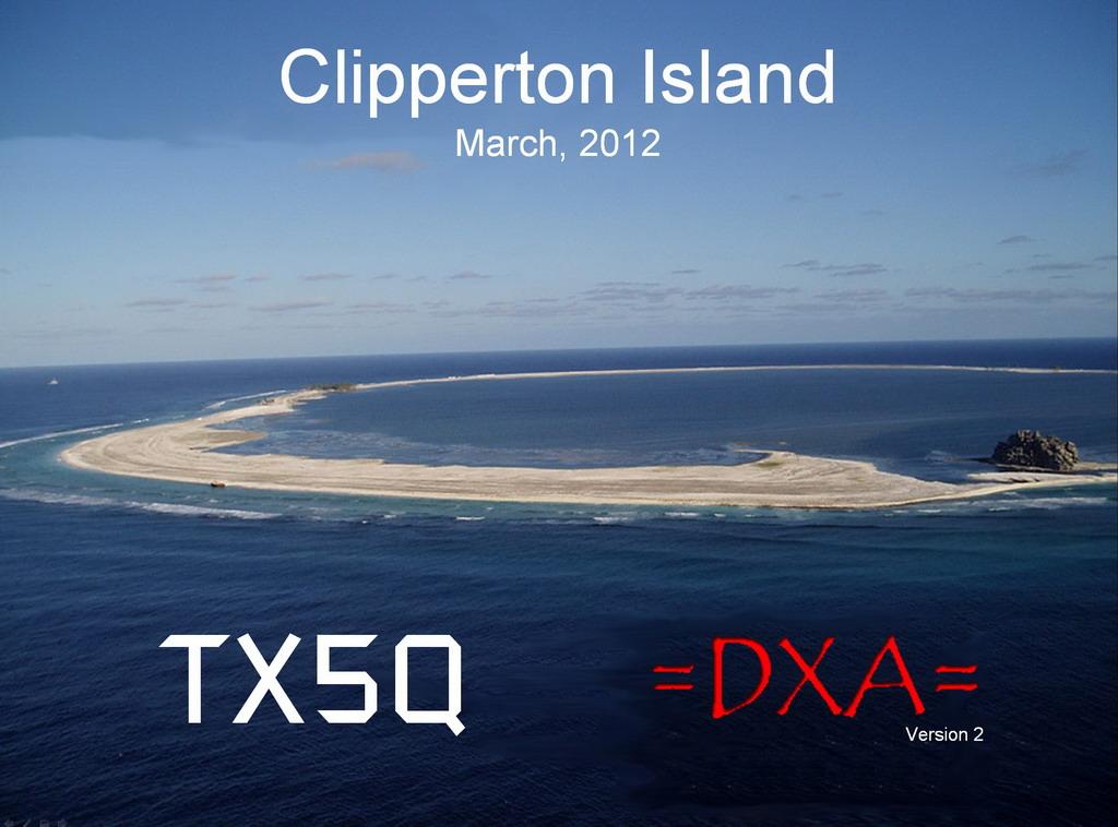 Clipperton Island TX5Q QSL