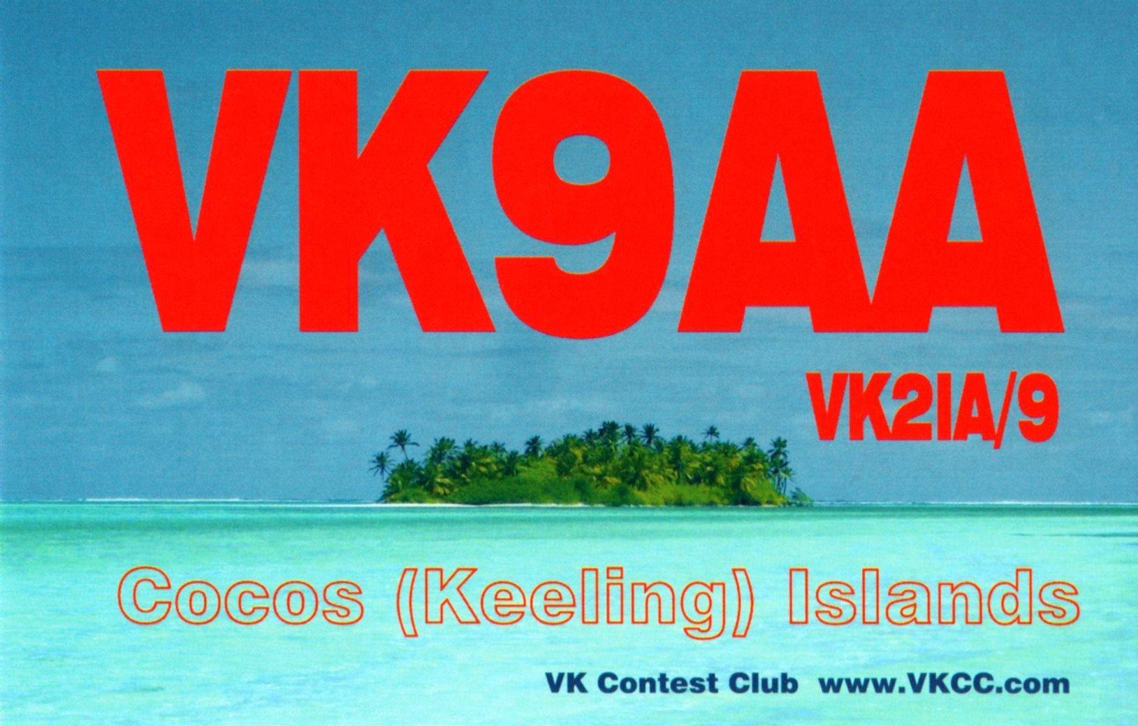 Cocos Keeling Islands Australia VK9AA QSL