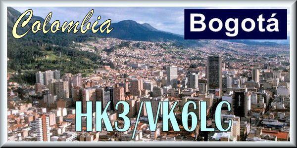 Колумбия HK3/VK6LC Богота QSL