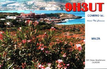Comino Island 9H3UT QSL