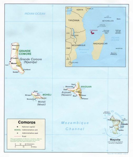 Comoro Islands D68K MAP