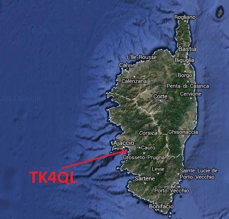 Корсика TK4QL Карта
