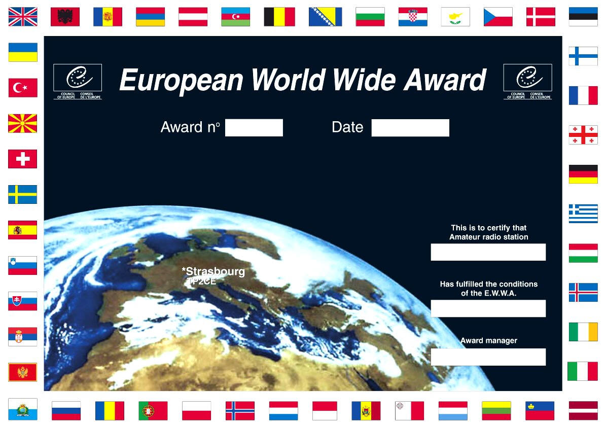 Council of Europe Amateur Radio Club TP2CE DX News