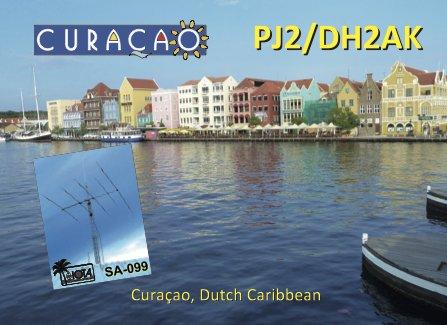 Curacao Island PJ2/DH2AK QSL