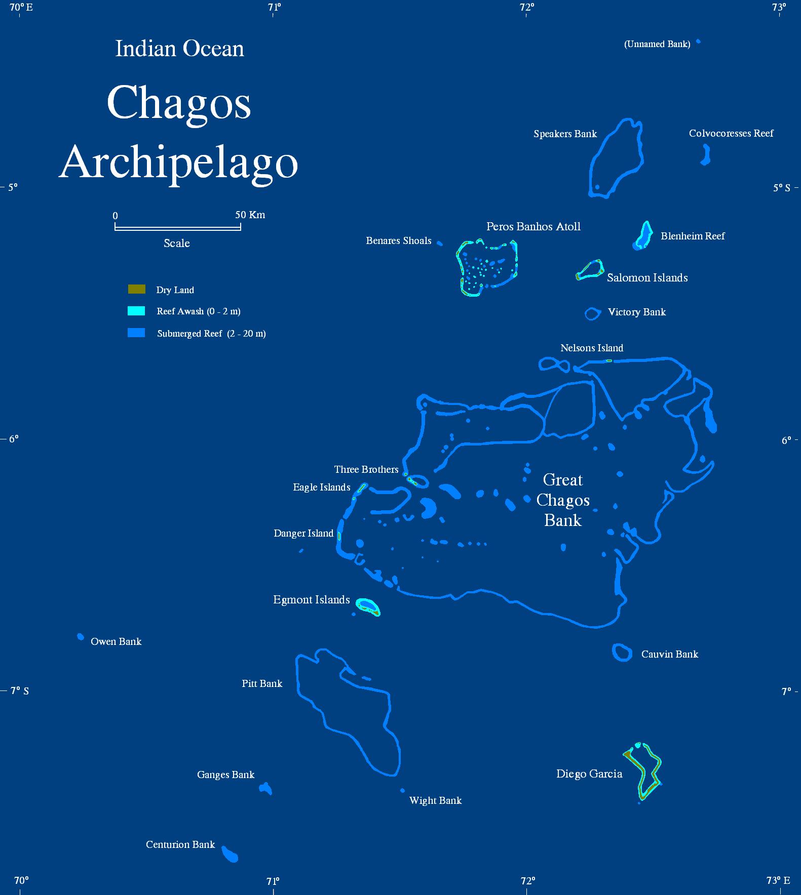 Остров Диего Гарсия Архипелаг Чагос VQ9JAB Карта