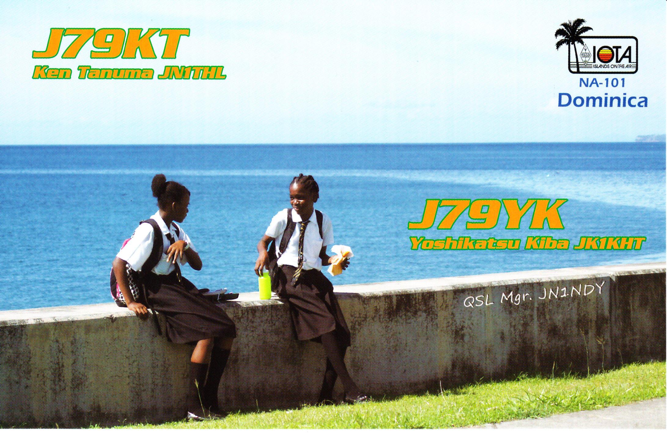 Dominica Island J79KT J79YK QSL