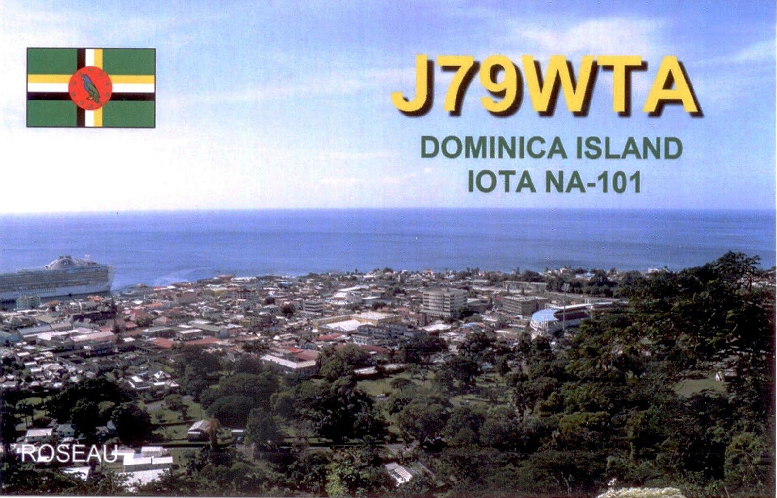 Dominica J79WTA QSL