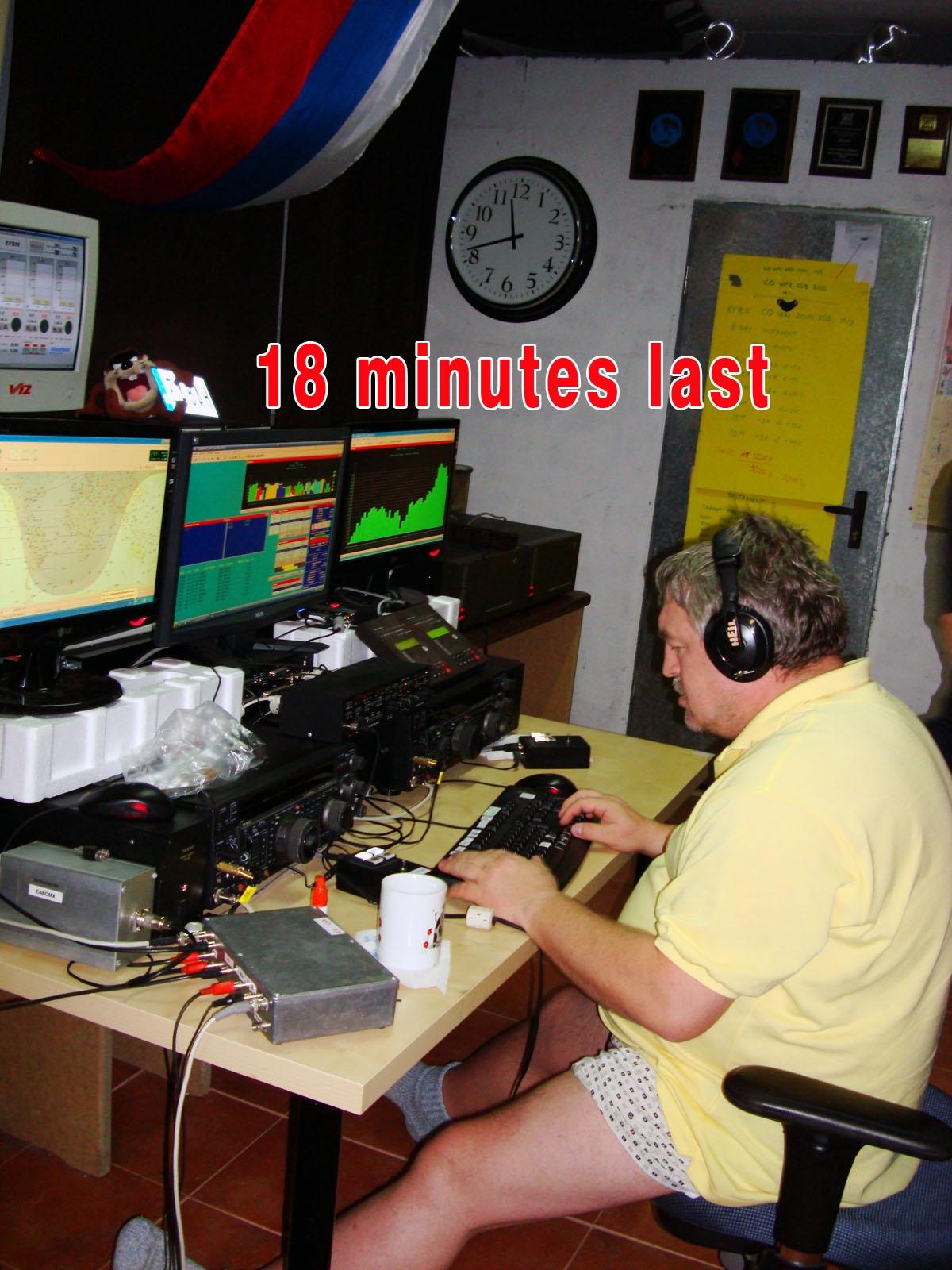 EF8M CQ WW DX CW Contest 2010 Последник 18 минут теста