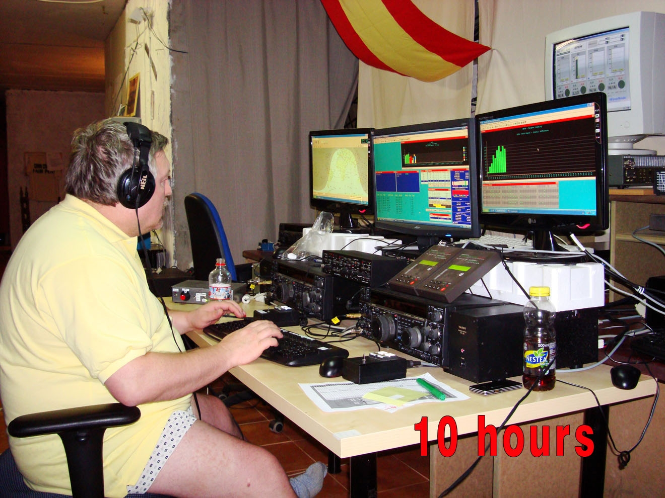 EF8M CQ WW DX CW Contest 2010 10 hours from start