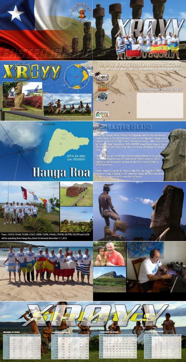 Easter Island XR0YY QSL