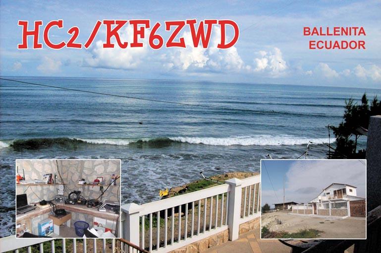 Ecuador HC2/KF6ZWD QSL