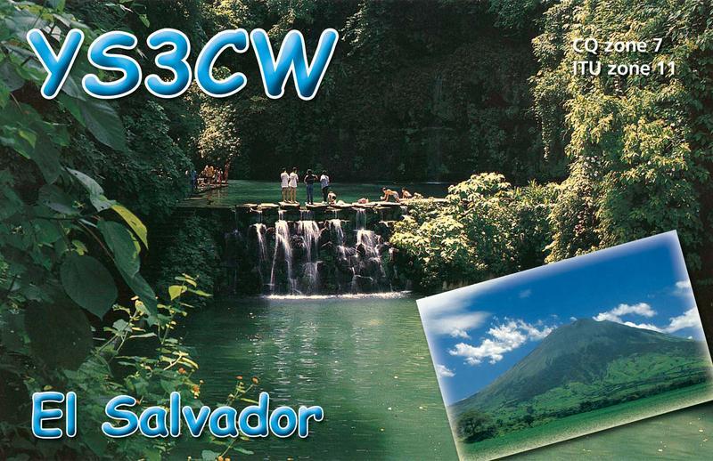 El Salvador YS3CW QSL
