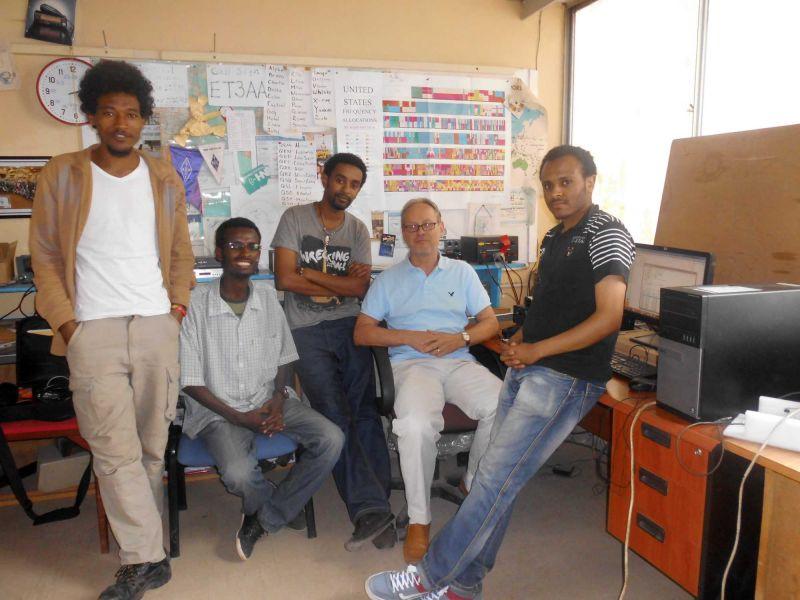 Ehiopia ET3AA Radioclub Team
