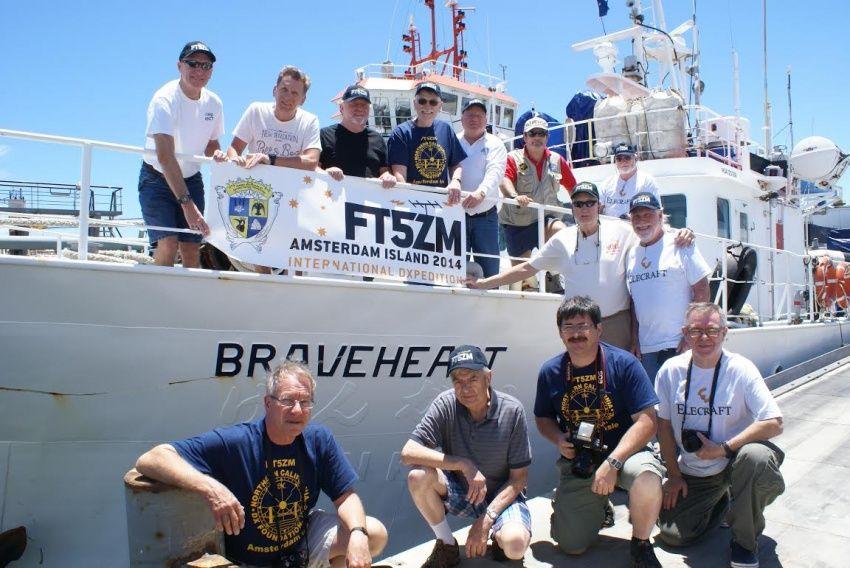 Остров Амстердам FT5ZM Команда готова к отплытию N2OO, EY8MM, UA3AB, FM5CD, HK1R, K0IE, K4UEE, K9CT,  LA6VM, K4ZLE, N6HC, VA7DX,  VE7CT, WB9Z