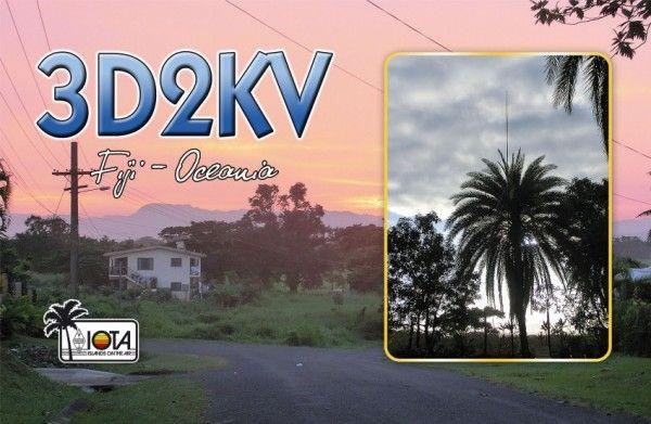 Фиджи 3D2KV QSL