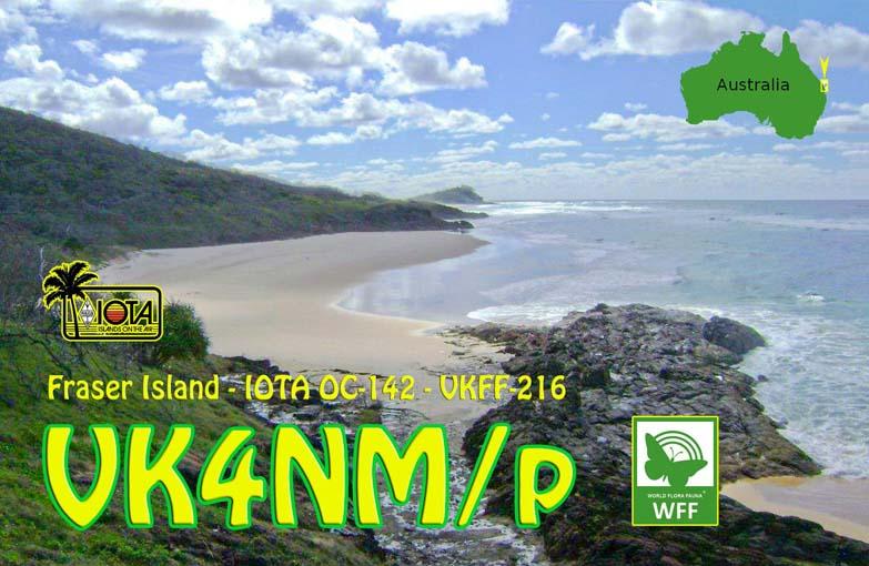Fraser Island Queensland Australia VK4NM/P QSL