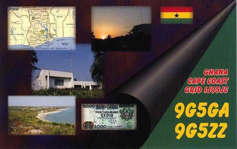Ghana 9G5GA 9G5ZZ QSL