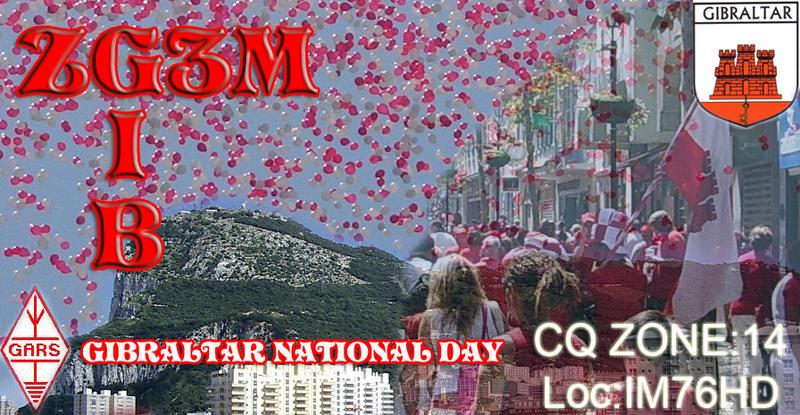 Гибралтар ZG3M Национальный День Гибралтара